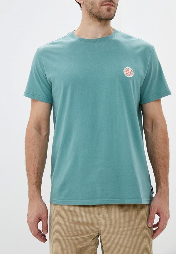 мужская спортивные футболка billabong, зеленая