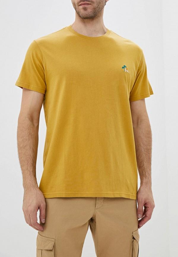 мужская спортивные футболка billabong, желтая