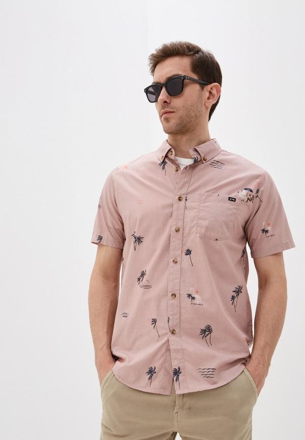 мужская рубашка billabong, розовая