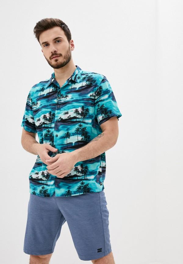 мужская рубашка billabong, бирюзовая