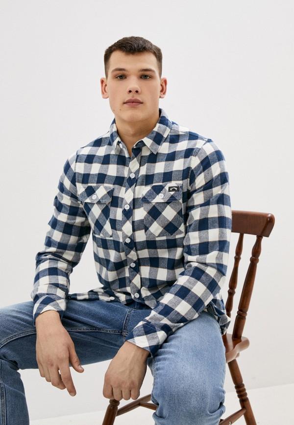 мужская рубашка с длинным рукавом billabong, синяя