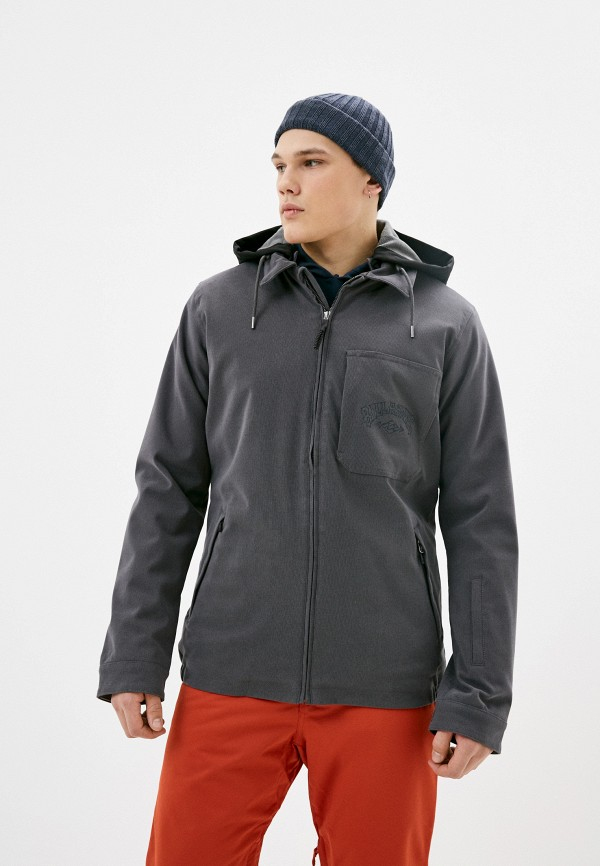 мужская куртка billabong, серая