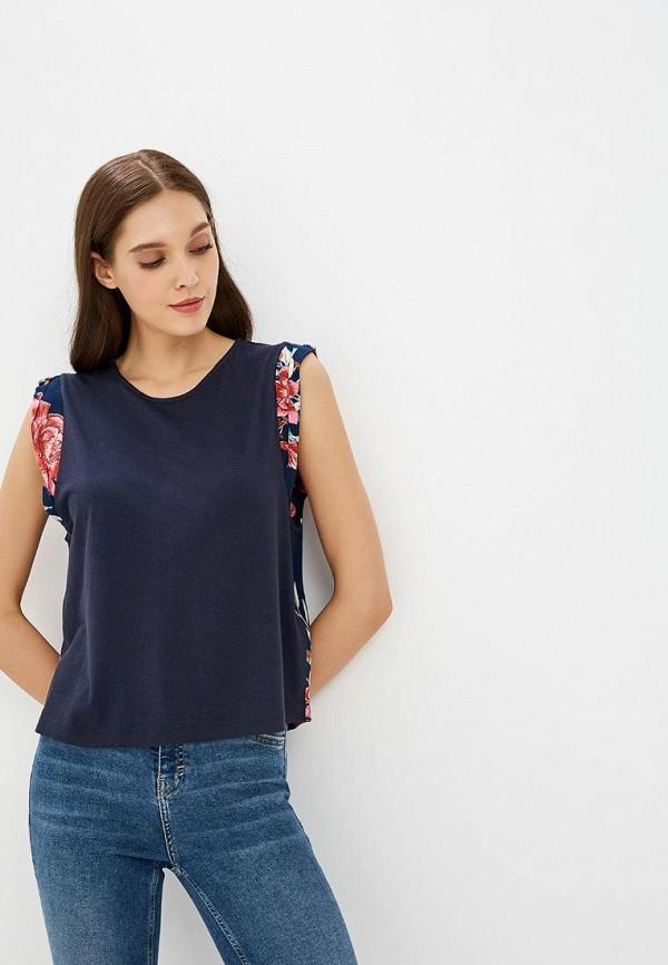 женская блузка billabong, синяя