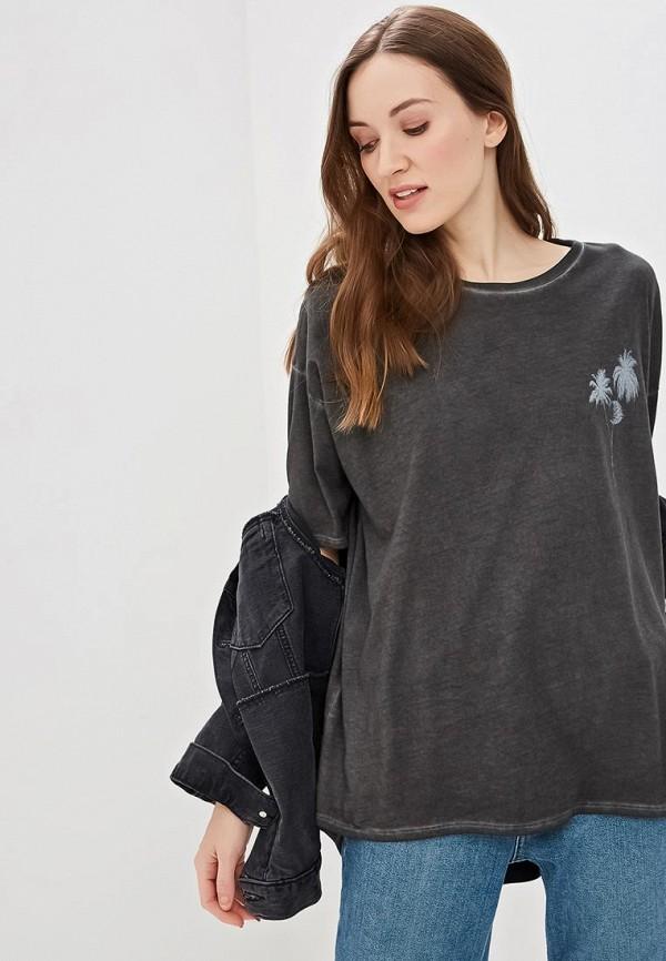 женская футболка billabong, серая