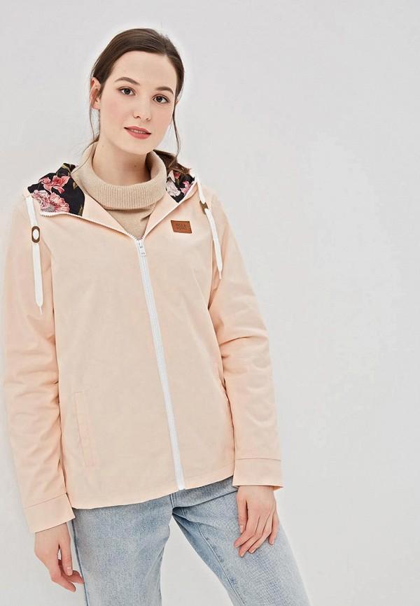 женская куртка billabong, розовая