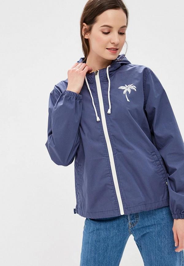 женская куртка billabong, синяя