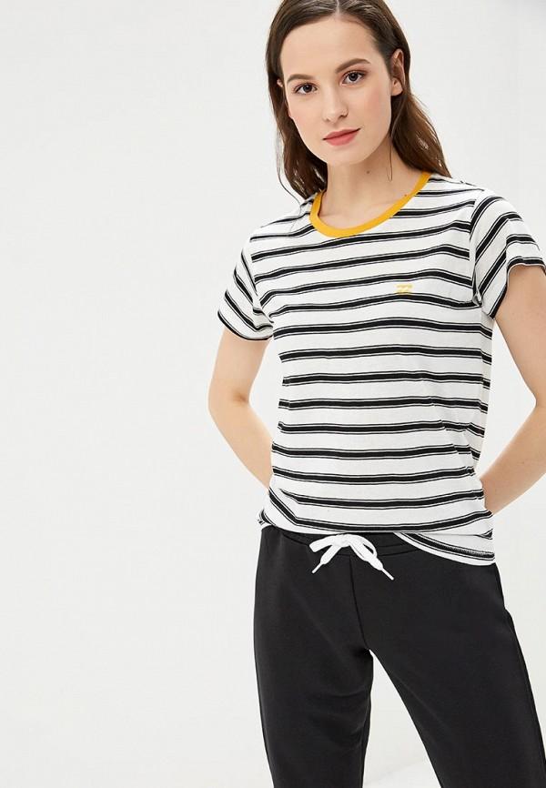 женская спортивные футболка billabong, белая