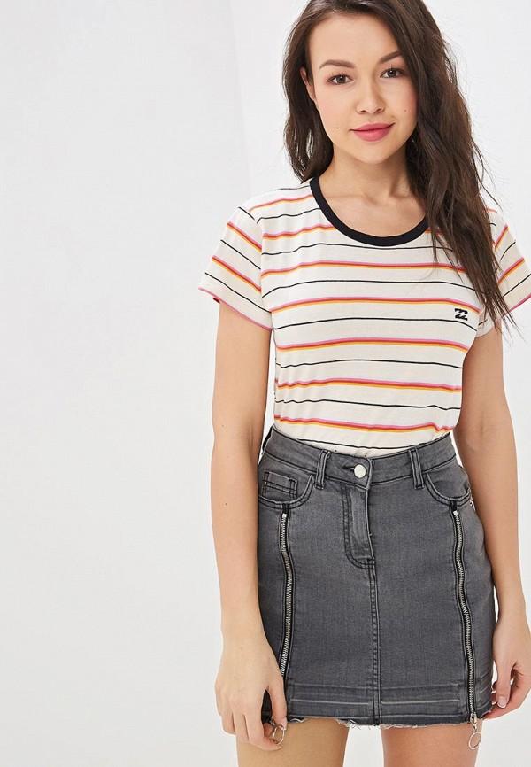 женская спортивные футболка billabong, разноцветная