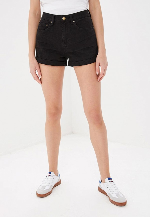 женские джинсовые шорты billabong, черные