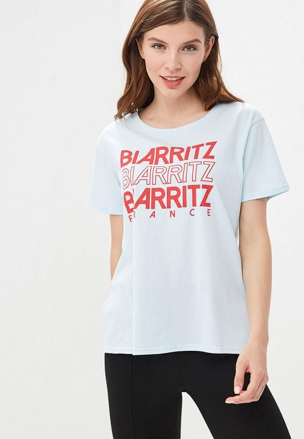 женская спортивные футболка billabong, голубая