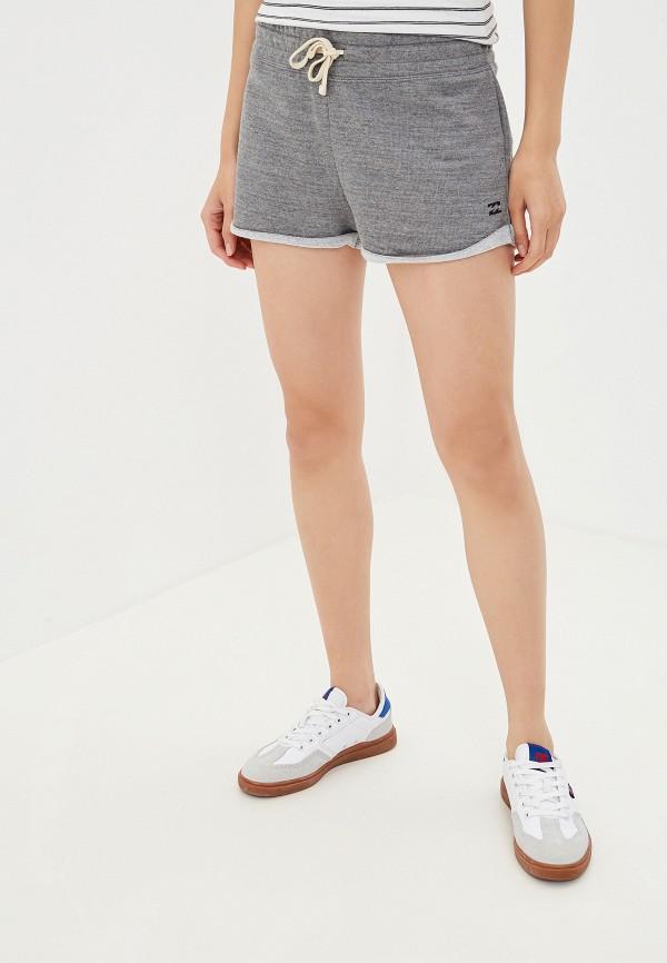 женские повседневные шорты billabong, серые