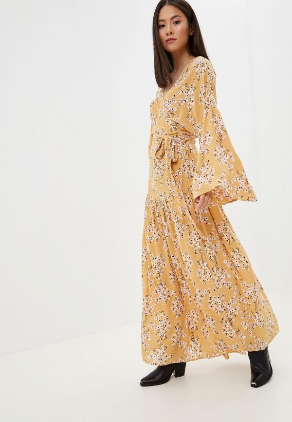 женское платье billabong, желтое