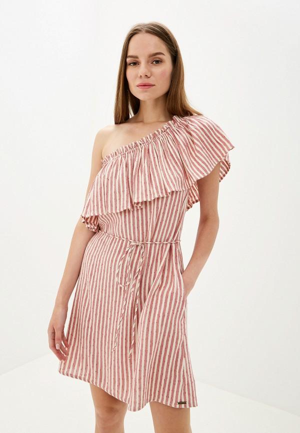 женское платье billabong, розовое