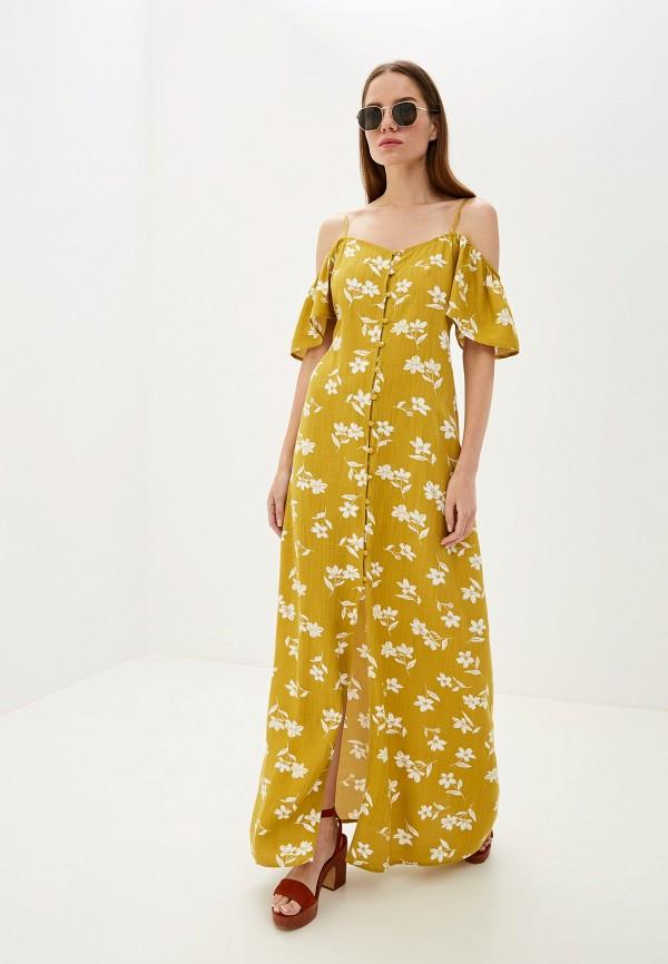 женский сарафан billabong, желтый