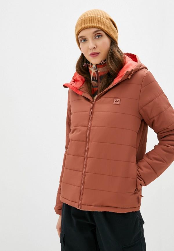 женская куртка billabong, коричневая