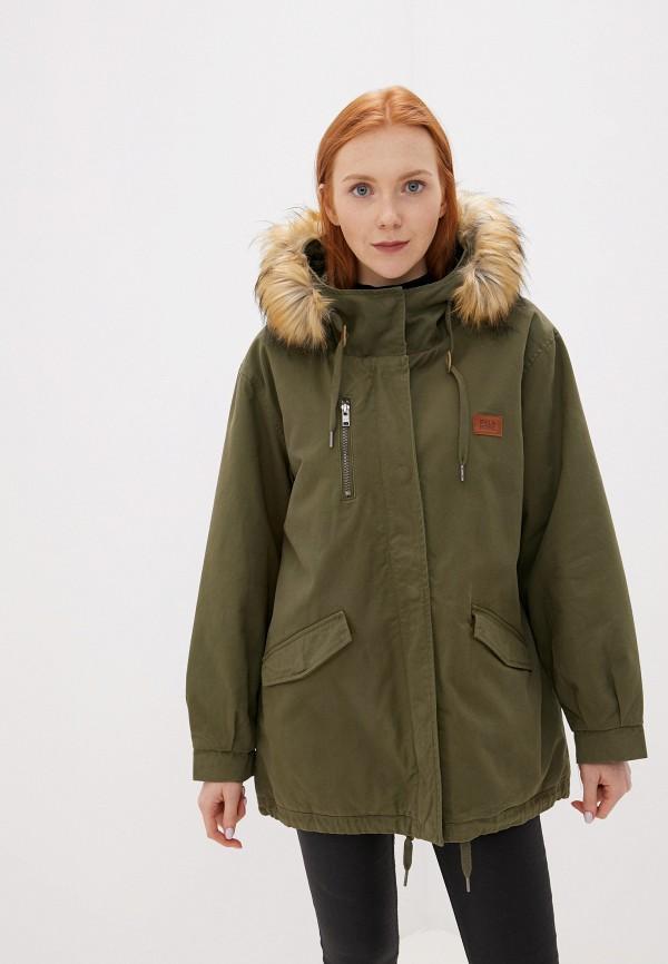 женская куртка billabong, хаки