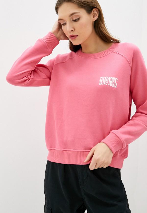 женский спортивные свитшот billabong, розовый