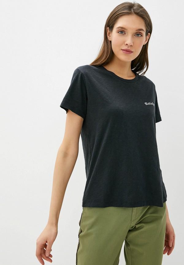 женская спортивные футболка billabong, черная