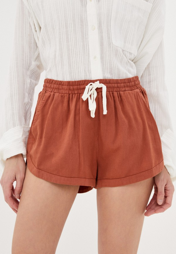 женские шорты billabong, коричневые