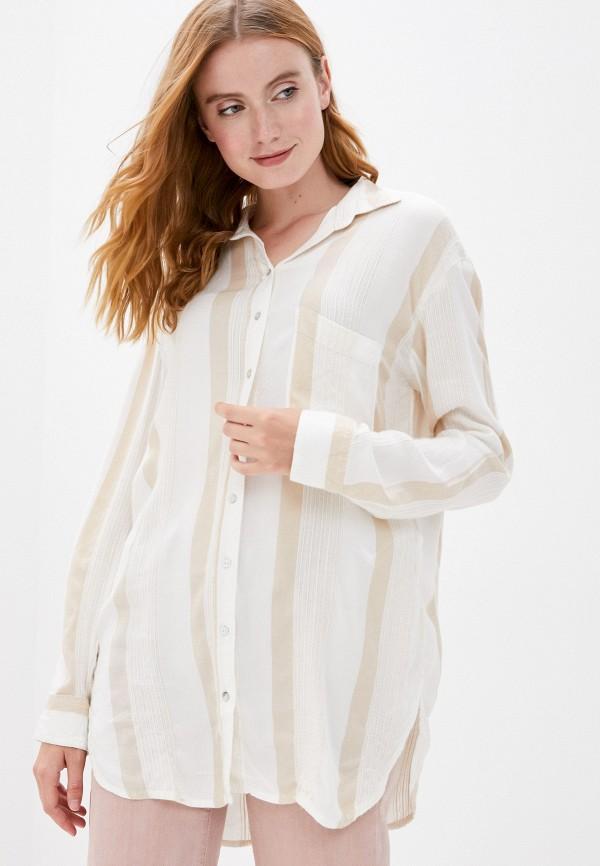 женская рубашка с длинным рукавом billabong, бежевая