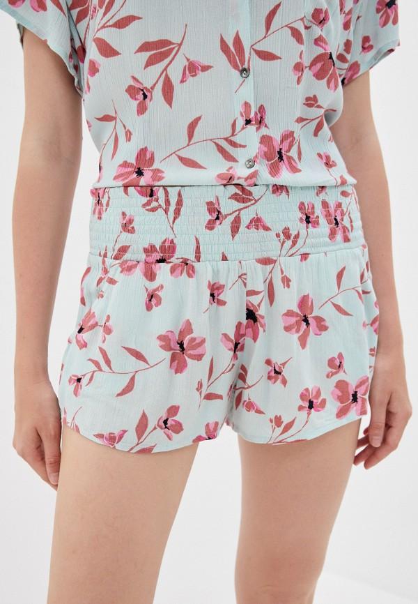 женские шорты billabong, бирюзовые