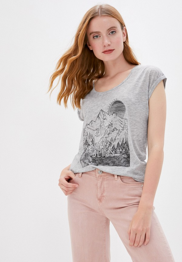 женская спортивные футболка billabong, серая