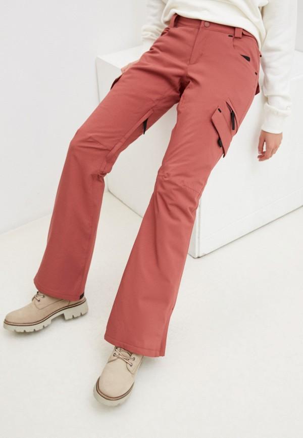 женские брюки billabong, розовые