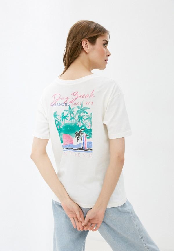 женская футболка billabong, белая