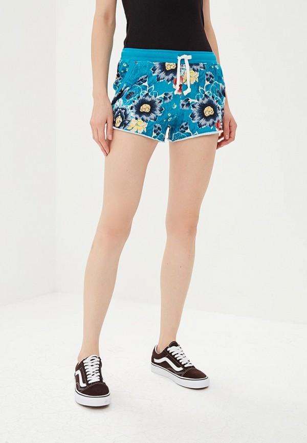женские спортивные спортивные шорты billabong, голубые