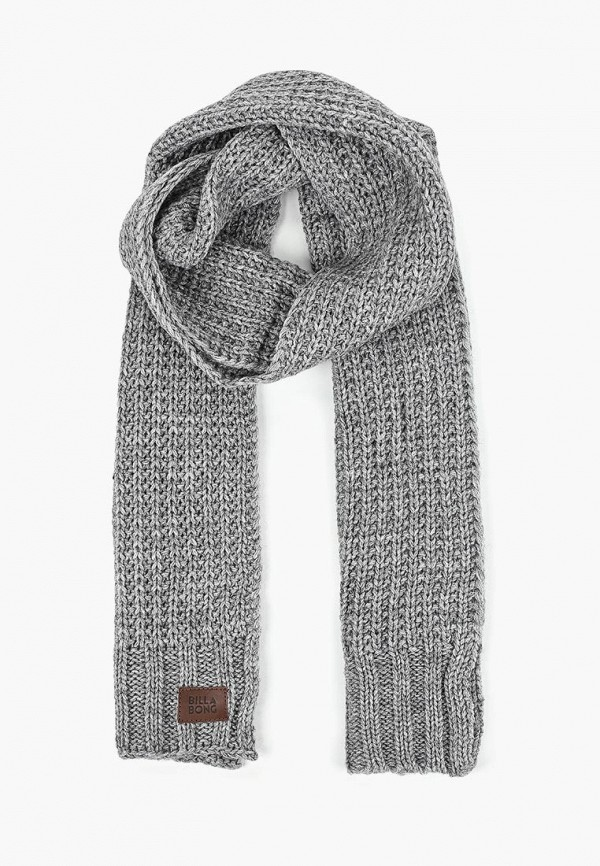 мужской шарф billabong, серый