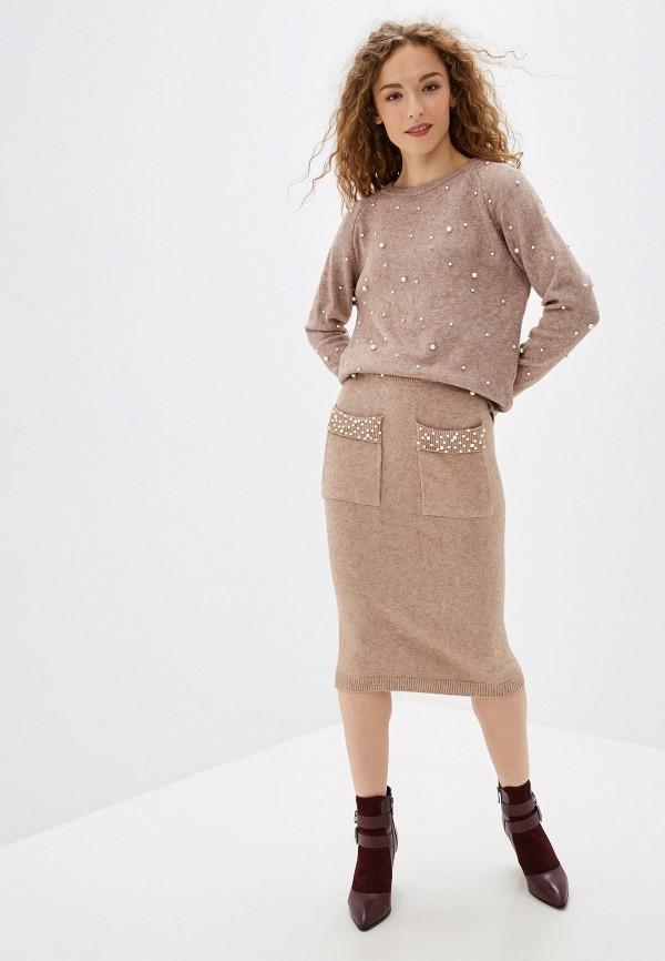 женский костюм bigtora, коричневый