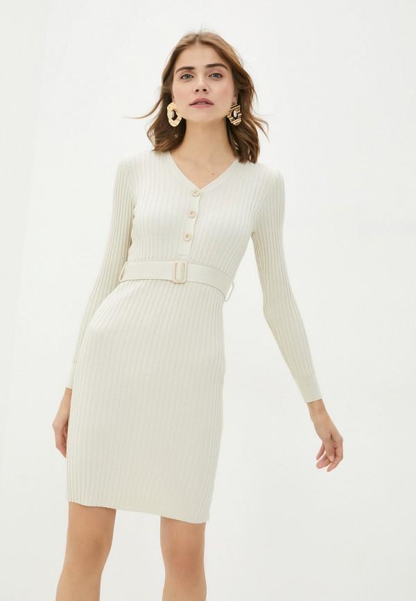 женское платье-футляр bigtora, бежевое
