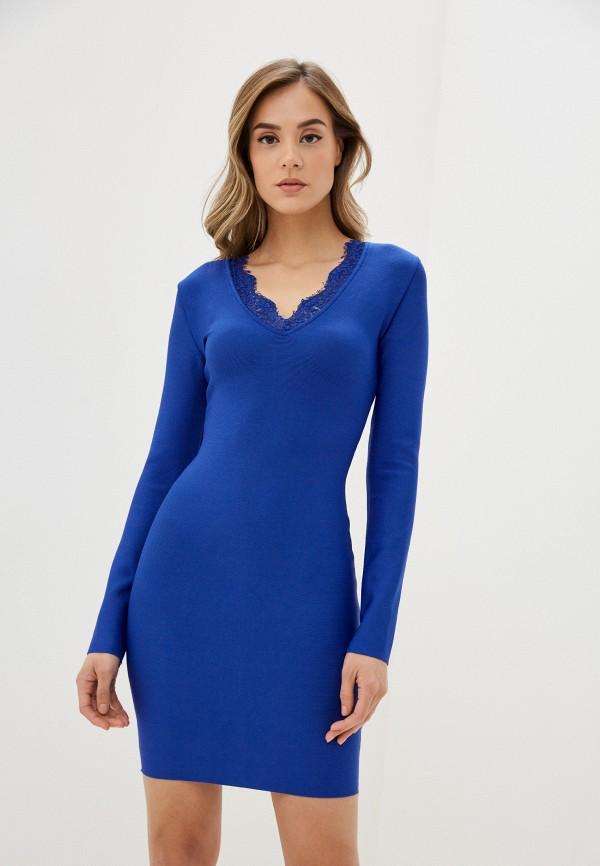 женское платье-футляр bigtora, синее