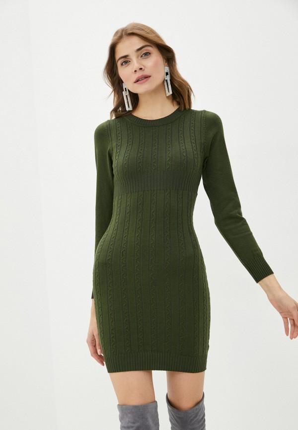 женское платье-футляр bigtora, зеленое