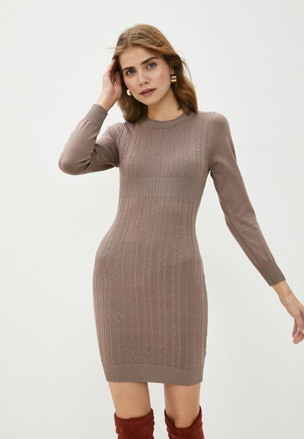женское платье bigtora, коричневое