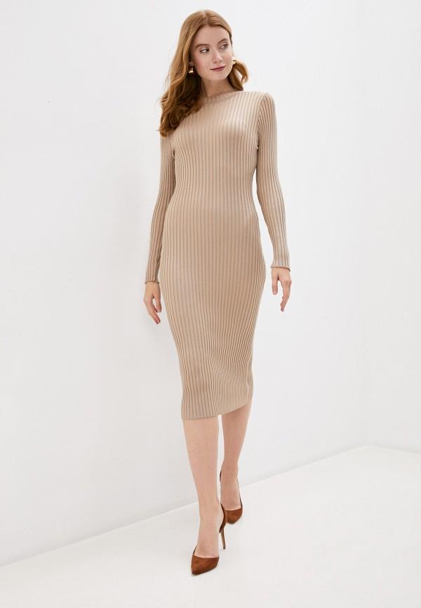 женское платье bigtora, бежевое