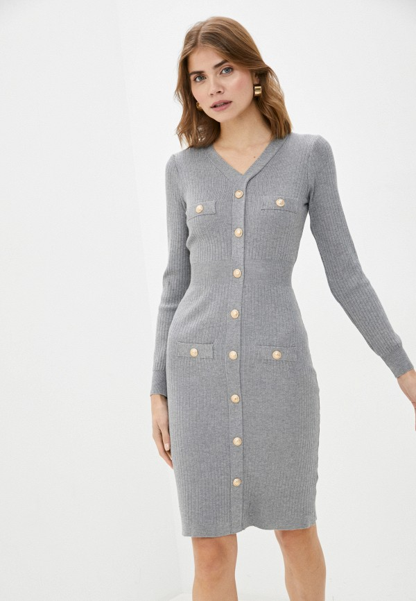 женское платье bigtora, серое