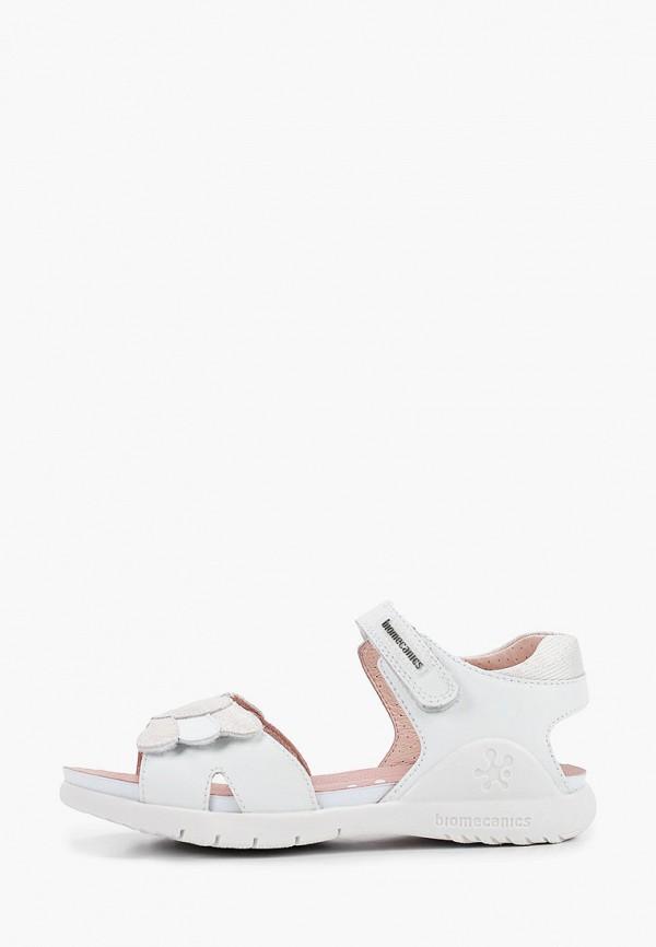 сандалии biomecanics для девочки, белые