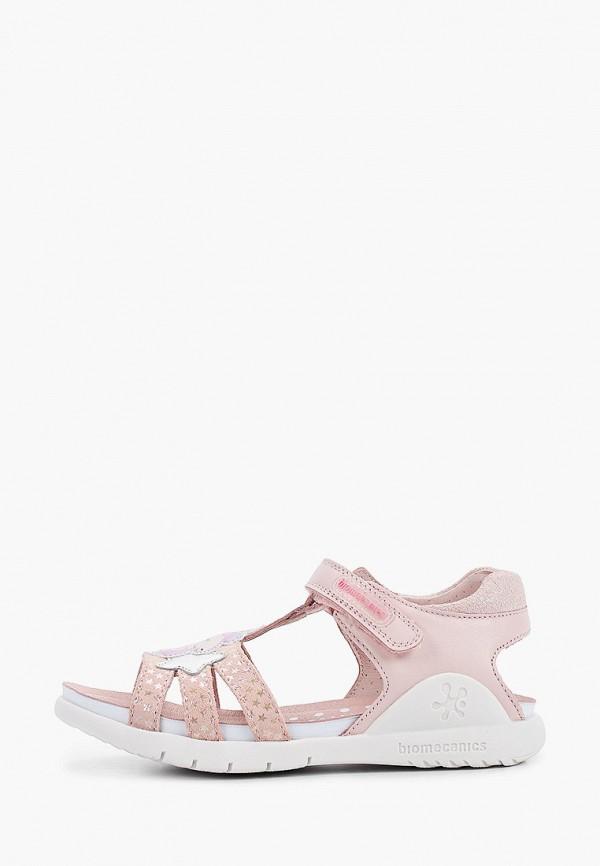 сандалии biomecanics для девочки, розовые