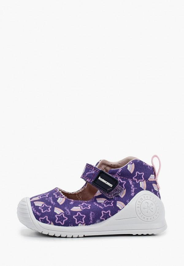 туфли biomecanics для девочки, фиолетовые