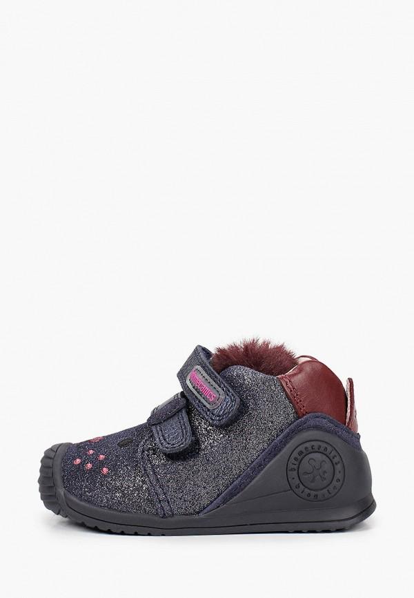 ботинки biomecanics для девочки, синие