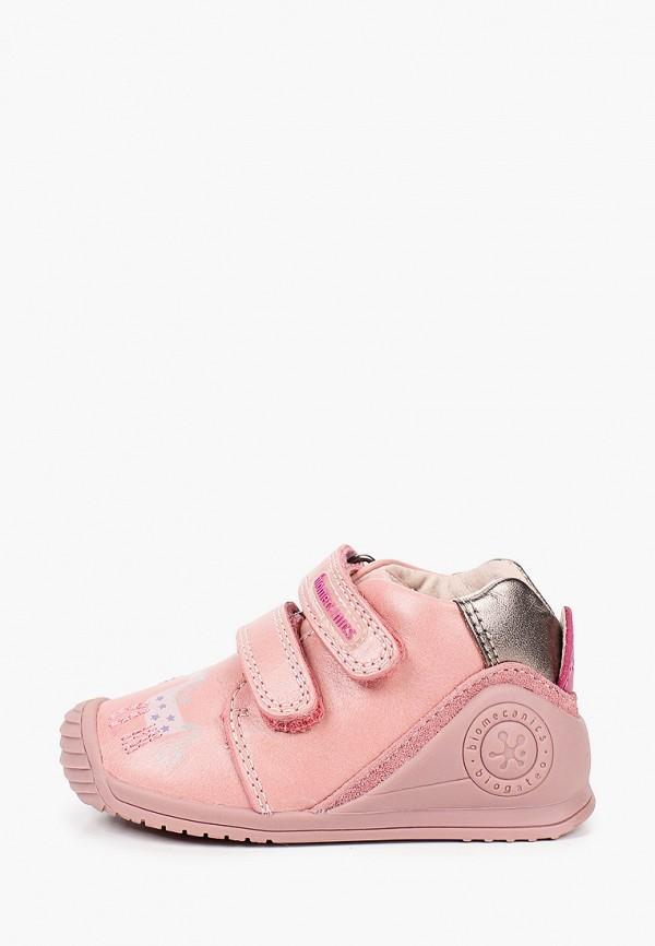 ботинки biomecanics для девочки, розовые