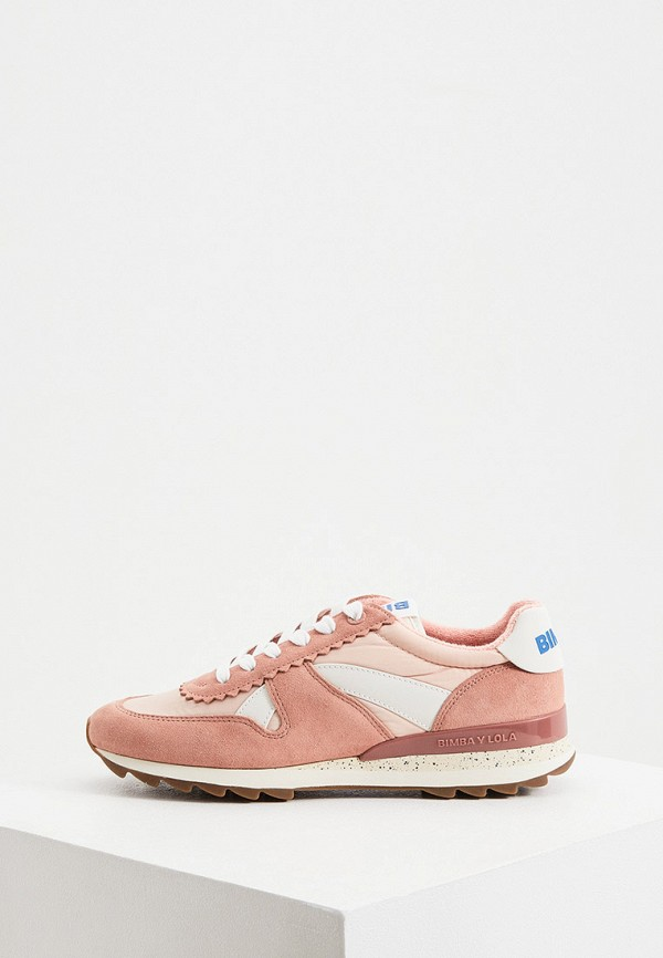 женские кроссовки bimba y lola, розовые