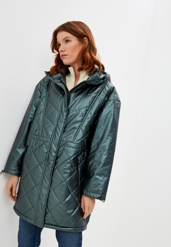 женская куртка bimba y lola, зеленая