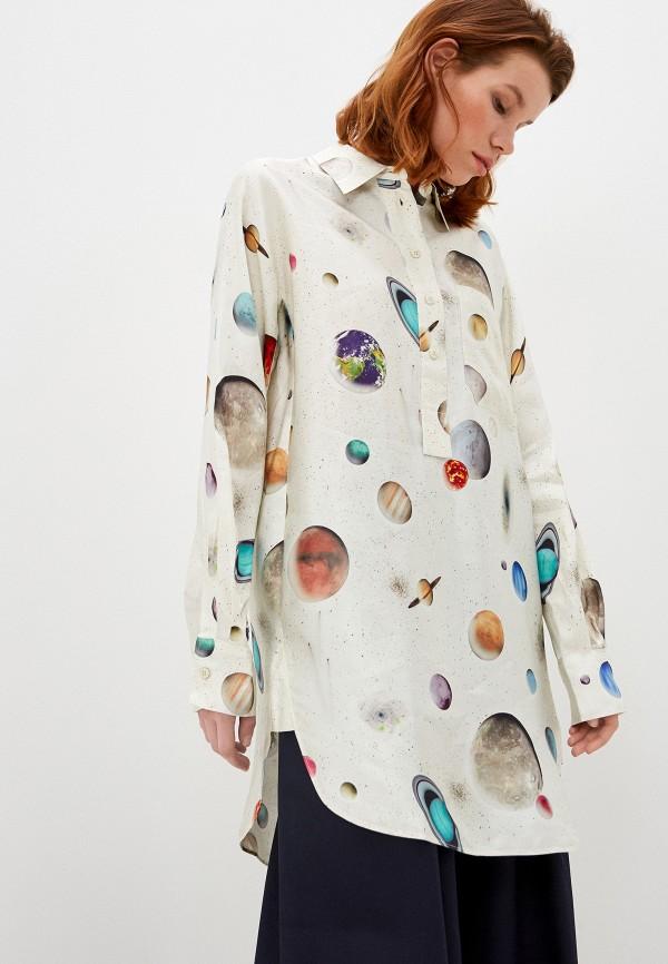 женская блузка bimba y lola, бежевая