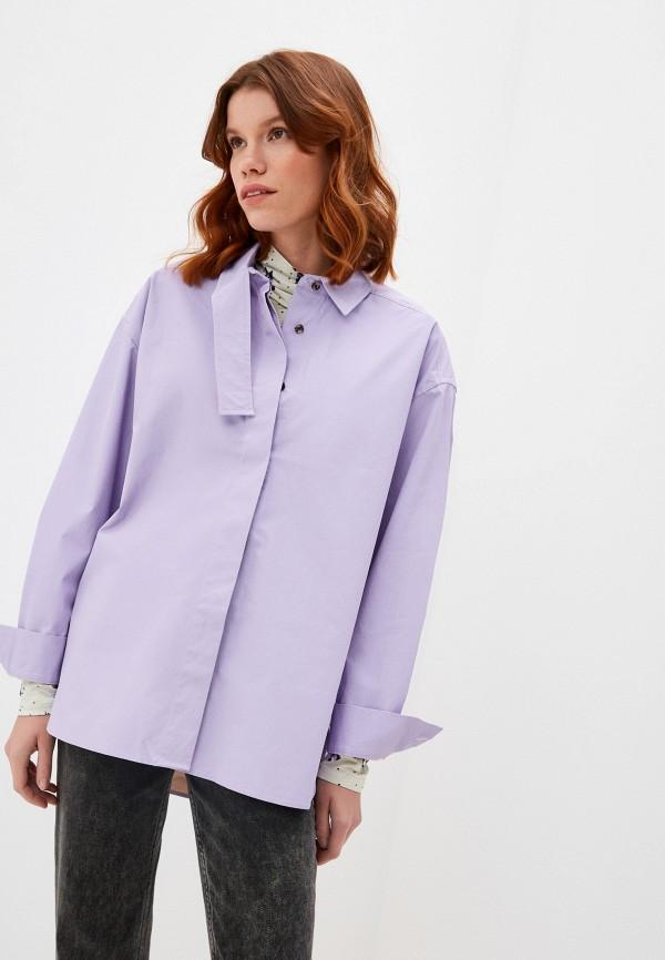 женская рубашка с длинным рукавом bimba y lola, фиолетовая