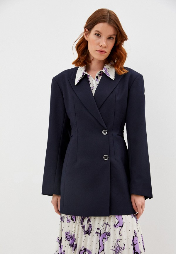 женский пиджак bimba y lola, синий