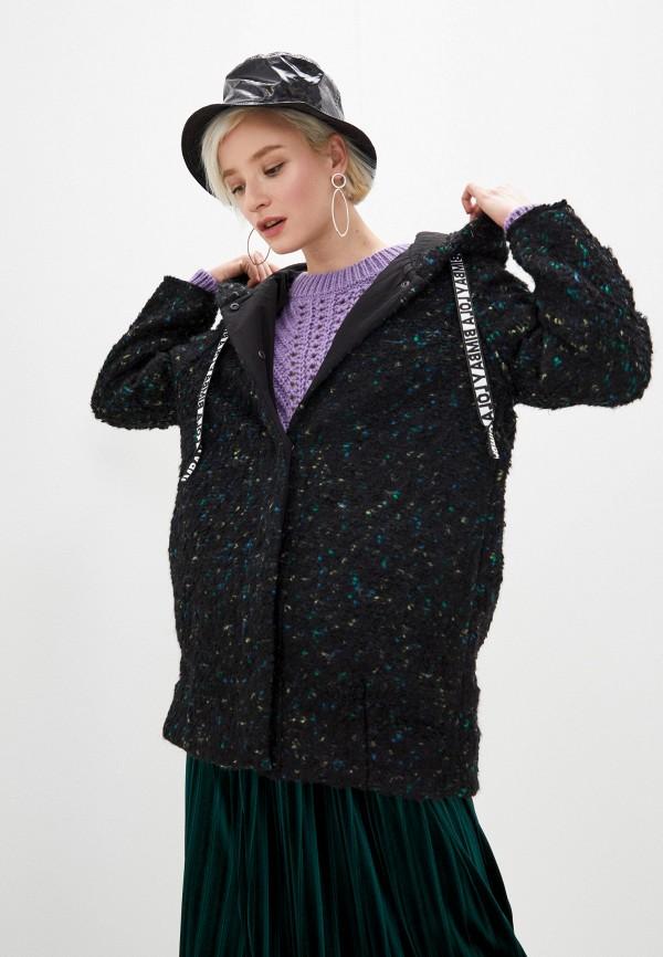 женское пальто bimba y lola, черное