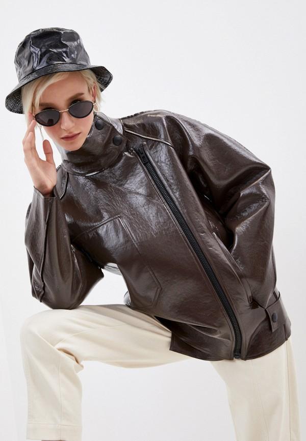 женская куртка bimba y lola, коричневая
