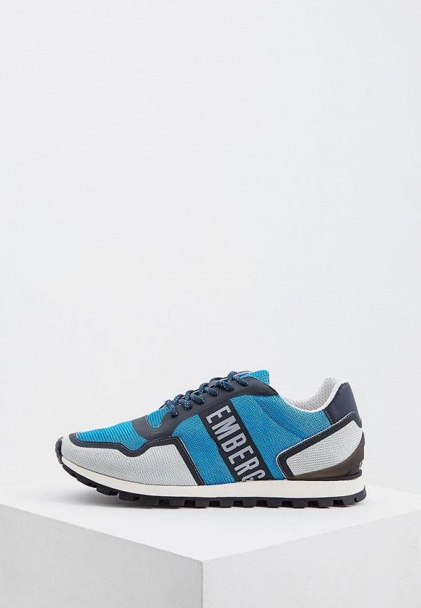 мужские низкие кроссовки bikkembergs, синие